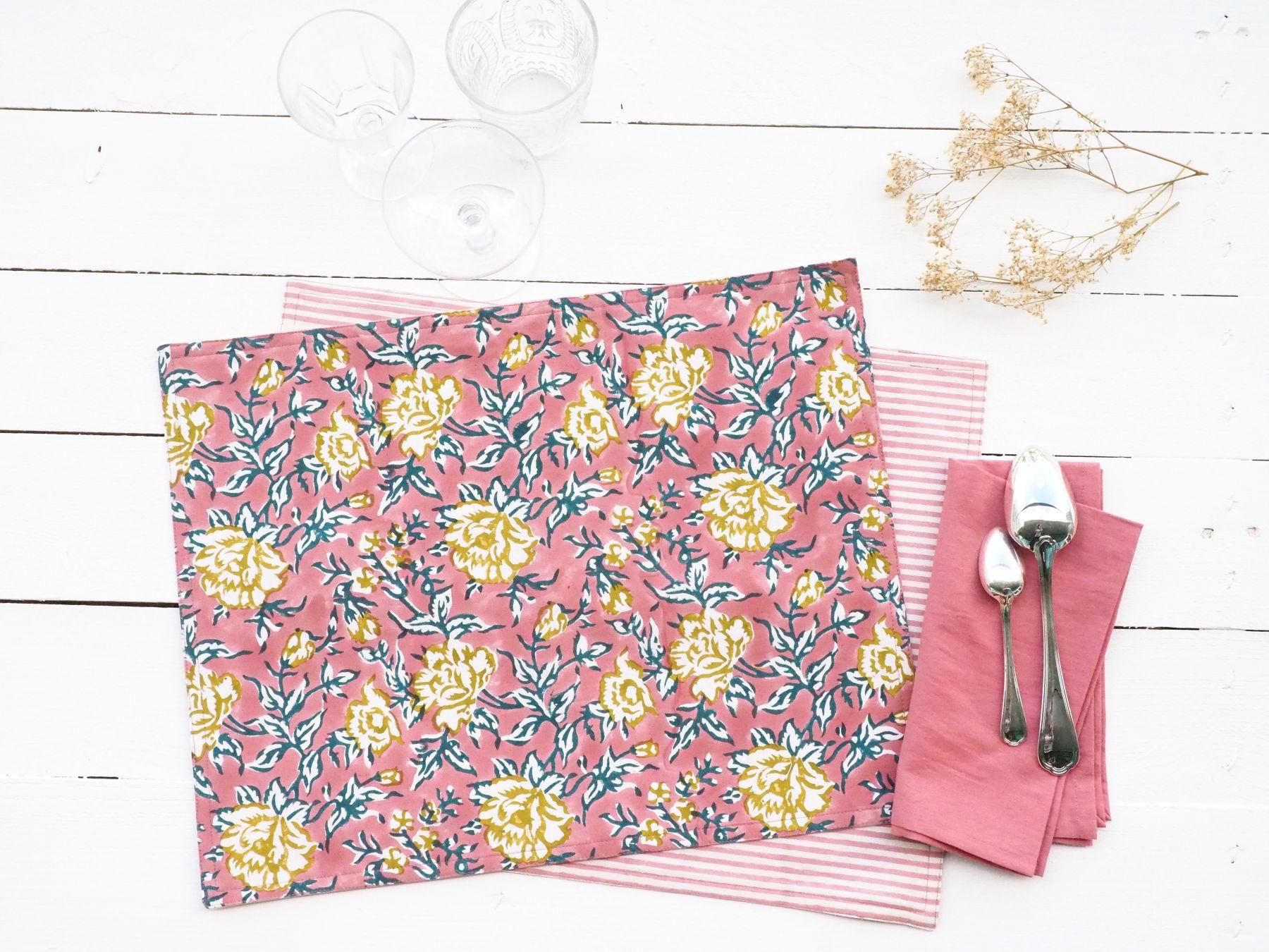 linge de table bindi atelier textile imprime