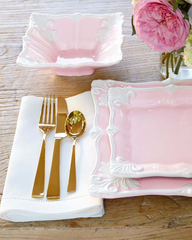 salle a manger deco vaisselle rose
