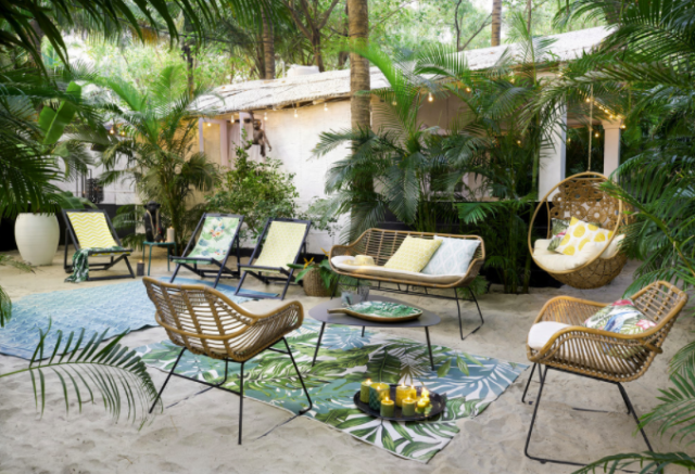 tapis exterieur jardin decoration
