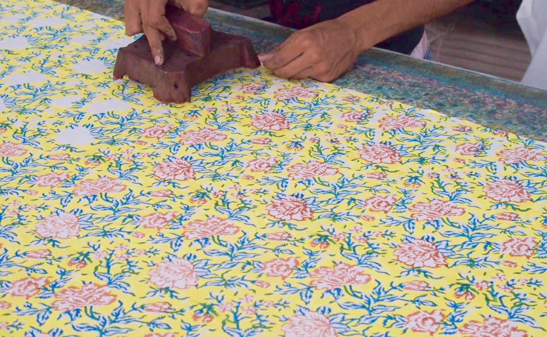 textile maison imprime blockprint bindi atelier