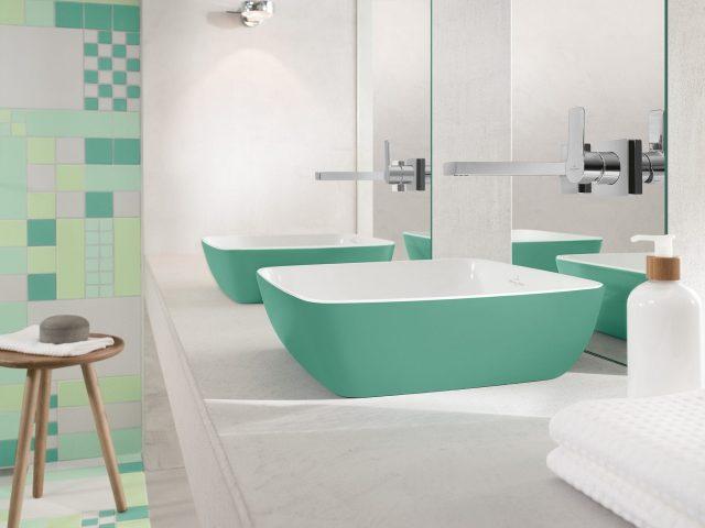 vasque deco couleur salle de bain