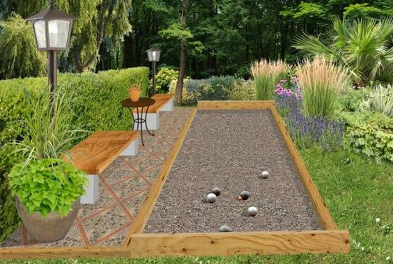 amenagement jardin petanque ete