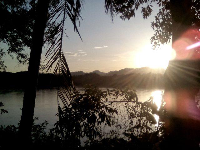 coucher de soleil luang prabang laos paysage