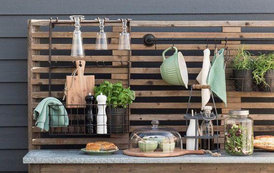 credence recup cuisine jardin palette