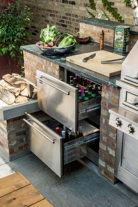 cuisine exterieur rangement idee deco jardin