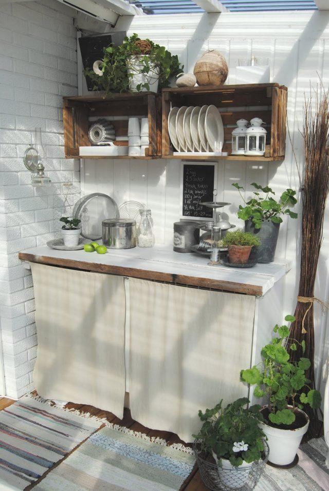 cuisine exterieure jardin deco tendance