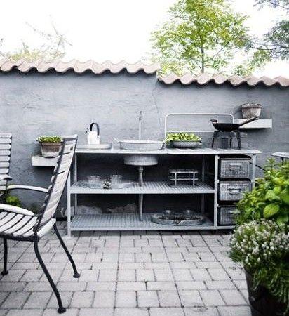 inspiration d co pour une petite cuisine ext rieure cocon d co vie nomade. Black Bedroom Furniture Sets. Home Design Ideas