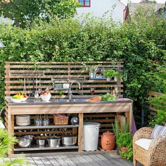 deco exterieur jardin amenagement cuisine