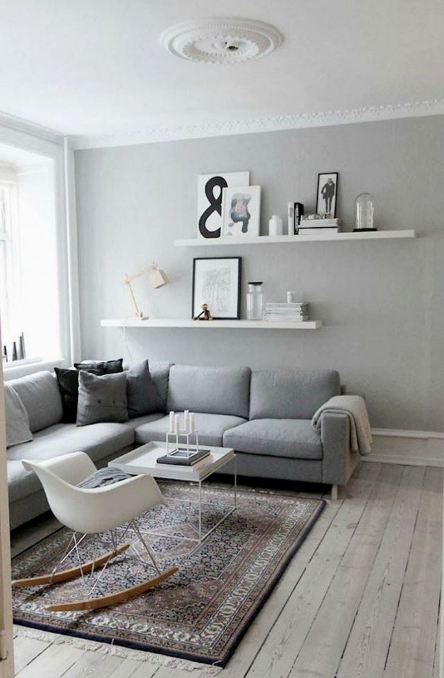 deco salon contemporain gris tendance