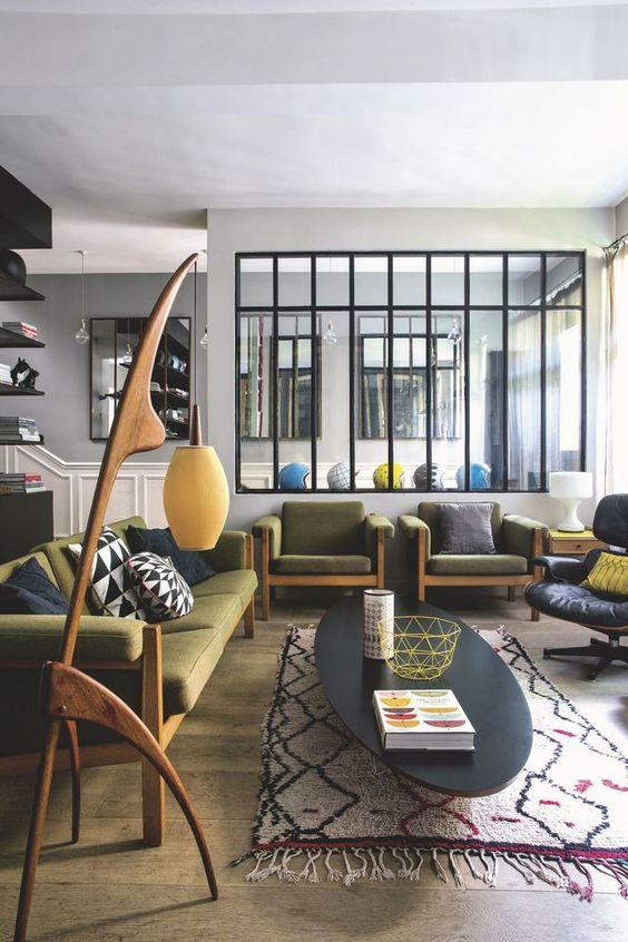 deco tapis motif tendance interieur contemporain