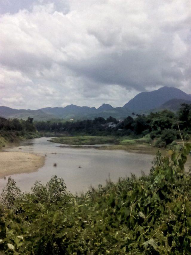 laos luang prabang promenade nature paysage