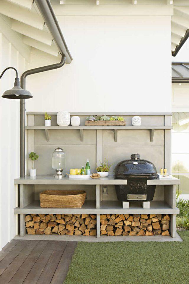 petite cuisine exterieur deco jardin
