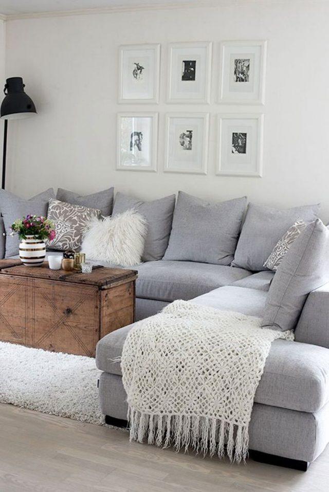 salon deco canape angle gris inspiration