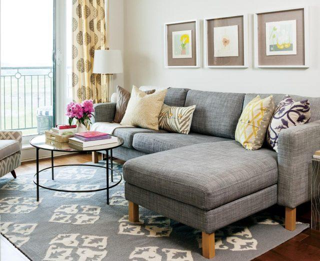 salon deco canape tapis gris inspiration classique contemporain