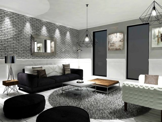 du gris dans le salon cocon d co vie nomade. Black Bedroom Furniture Sets. Home Design Ideas