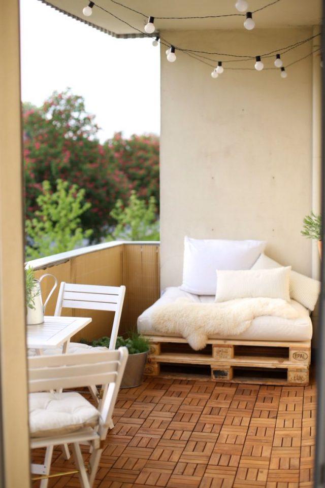 coin cosy balcon palette blanc