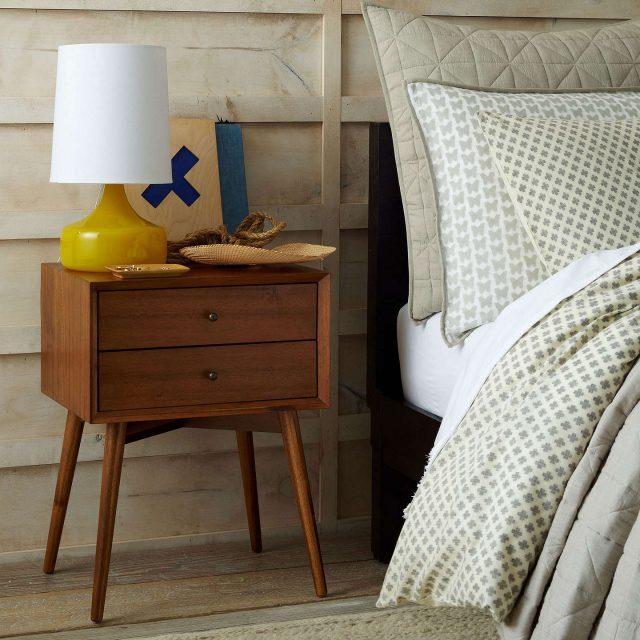 deco chambre mid century moderne table de nuit