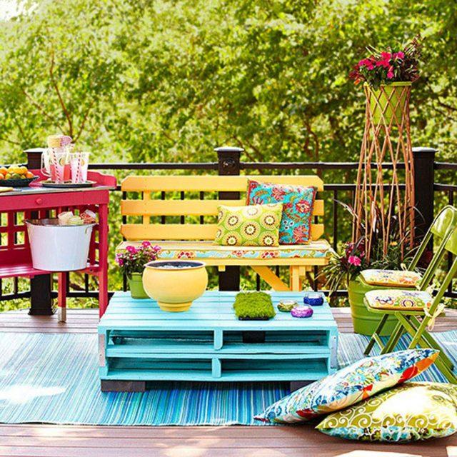 diy palette facile jardin