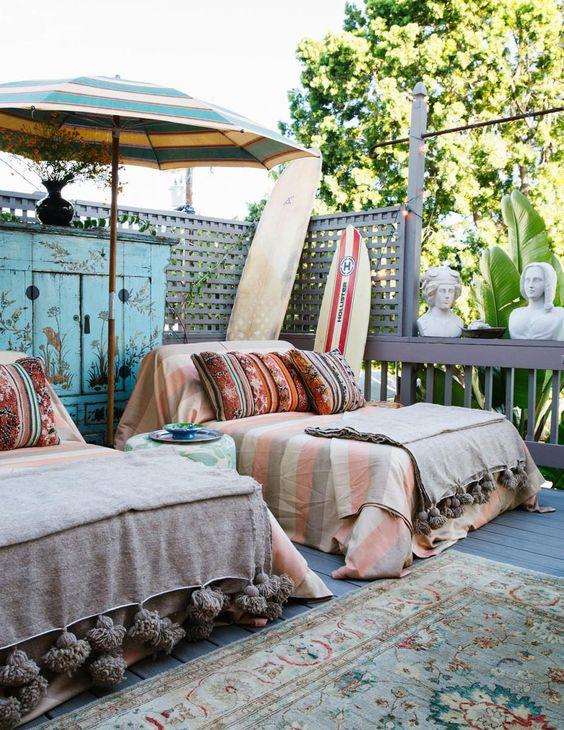 lazy balcon banquette boheme cosy