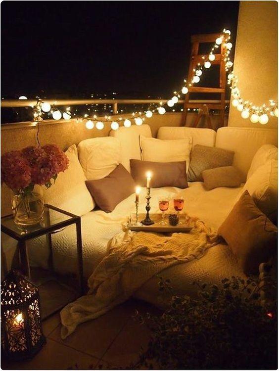 lumiere deco balcon cosy