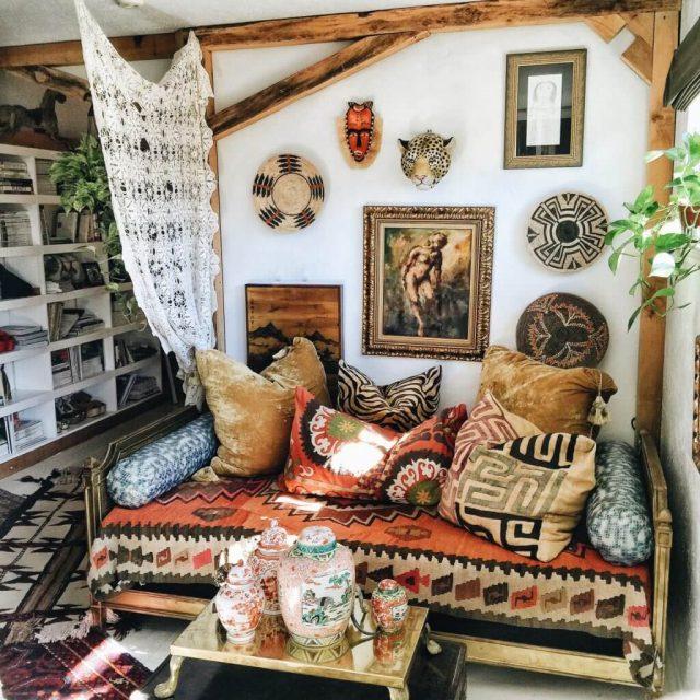 12 Inspirations For Home Improvement With Spanish Home: Inspiration Déco Pour Un Salon Bohème