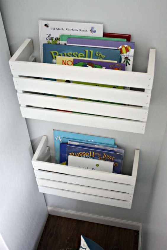 chambre enfant bibliotheque adaptee