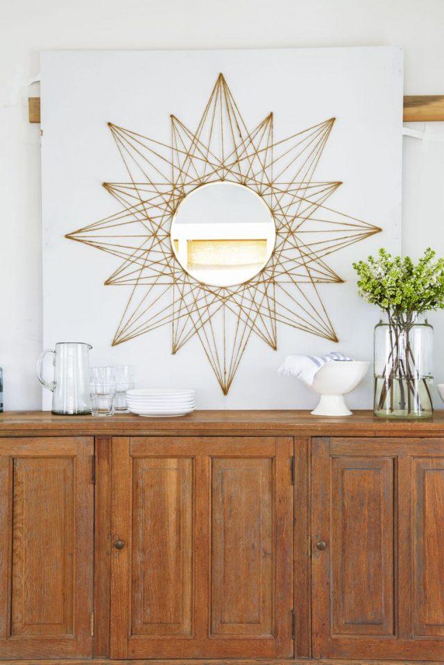 diy miroir tendance geometrique