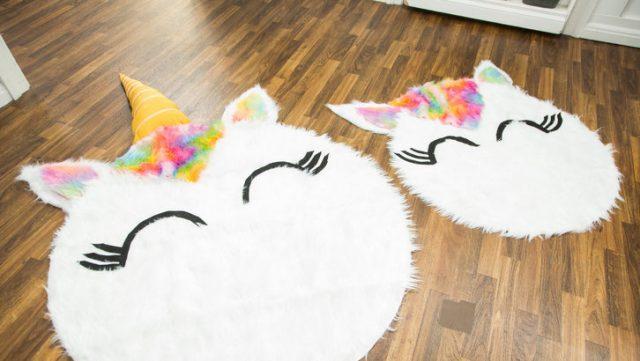 diy tapis licorne