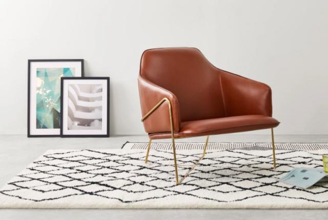 fauteuil original deco salon cuir
