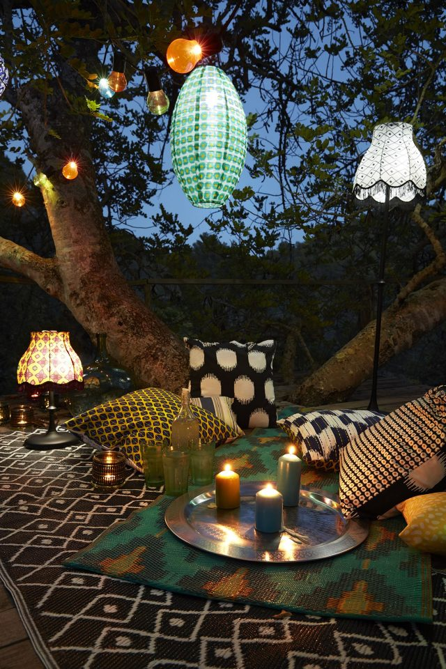 lanterne deco jardin boho chic