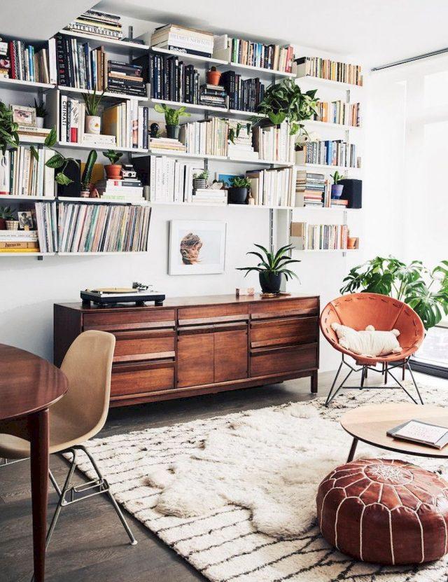 mobilier salon boheme chic