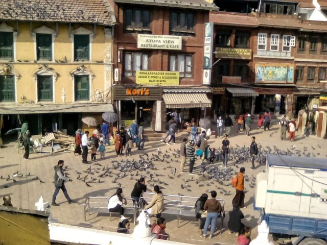 nepal katmandou voyage bodnath stupa place