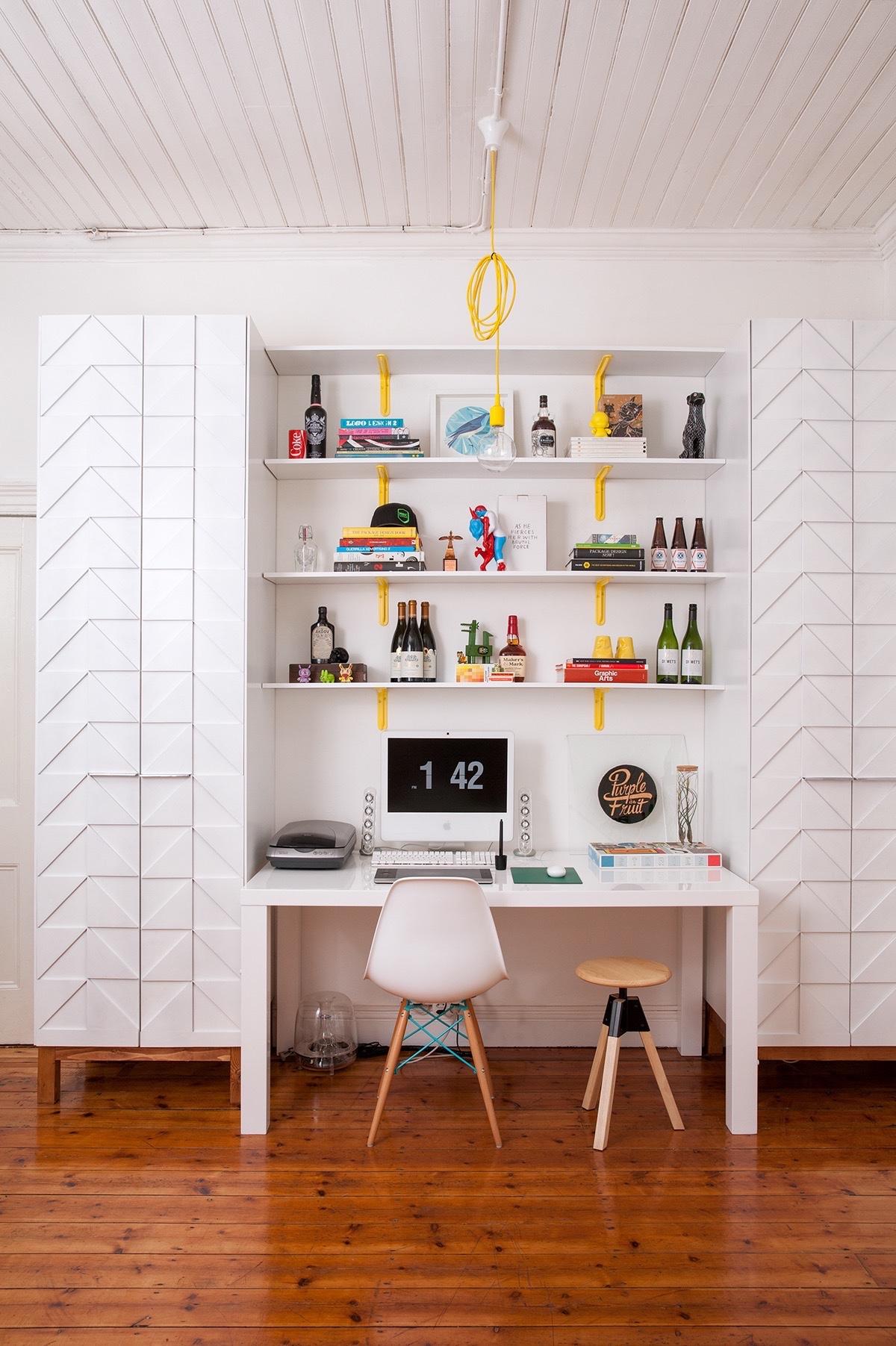 petit bureau decoration blanc moderne