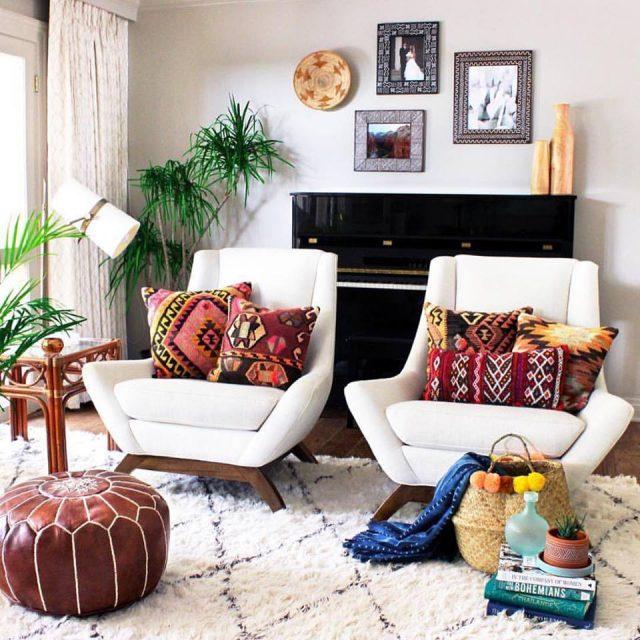 inspiration d co pour un salon boh me cocon d co vie. Black Bedroom Furniture Sets. Home Design Ideas