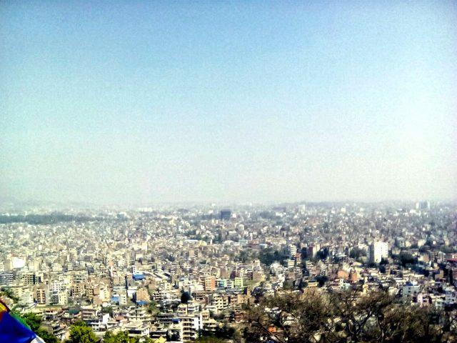 vue du monkey temple katmandou voyage nepal
