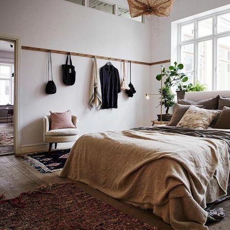 wabi sabi chambre deco textile lit