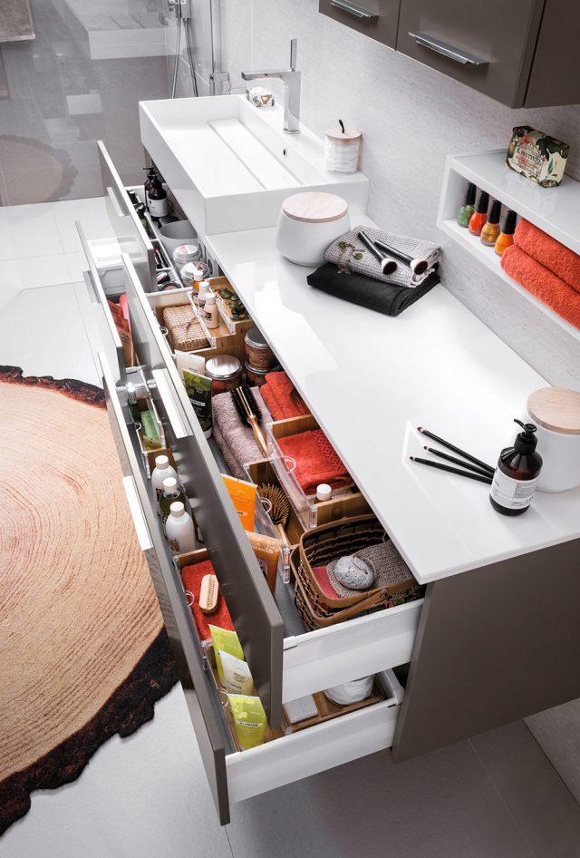 commode tiroir salle de bain rangement pratique