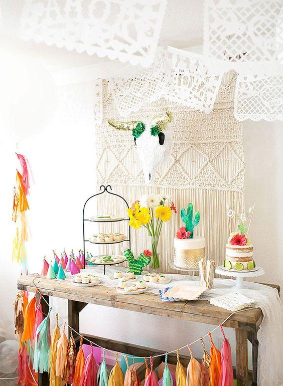 deco anniversaire theme mexique vacances buffet