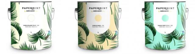 deco facile peinture papier peint coordonne