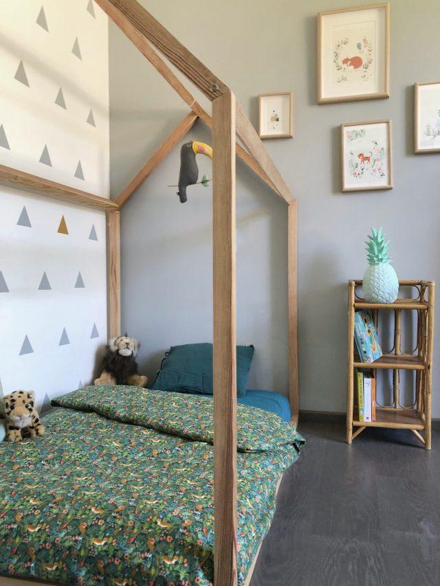 decoration chambre enfant lit cabane