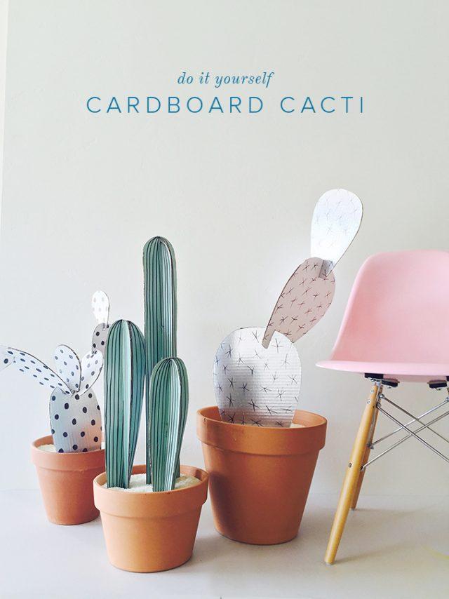 diy cactus facile papier carton