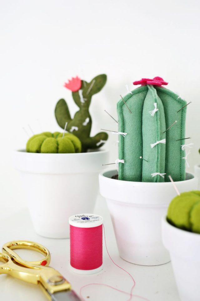 diy deco cactus feutrine