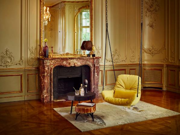 fauteuil leya swing design cosy