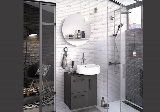 meuble vasque design rangement salle de bain