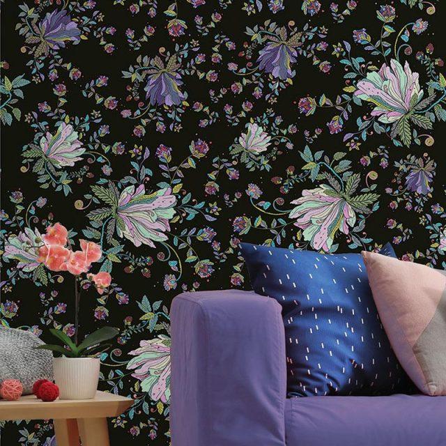 papier peint decoration murale fleur tendance