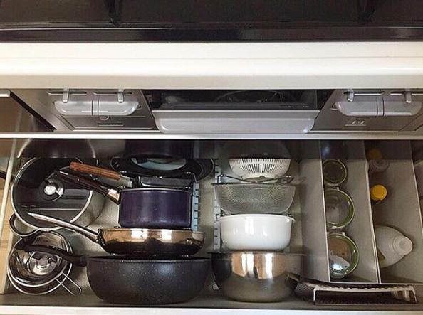 rangement tiroir organisation cuisine