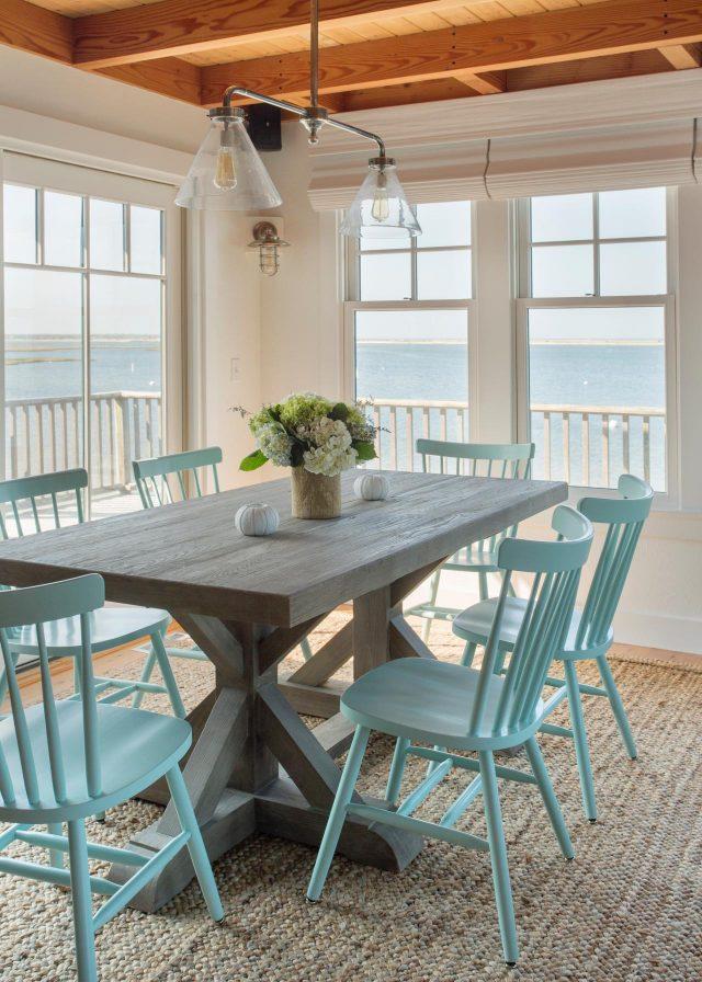salle a manger chaise bleu tendance