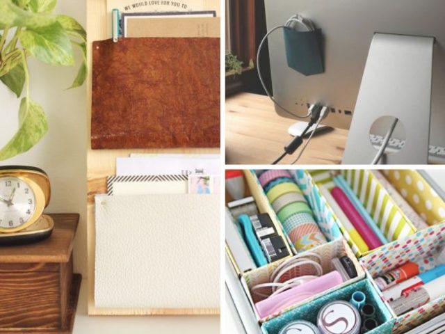 5 diy pour organiser votre espace de travail cocon d co vie nomade. Black Bedroom Furniture Sets. Home Design Ideas