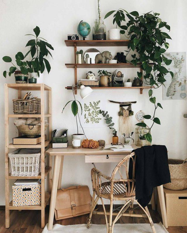 inspiration une chambre dans le style urban jungle cocon d co vie nomade. Black Bedroom Furniture Sets. Home Design Ideas