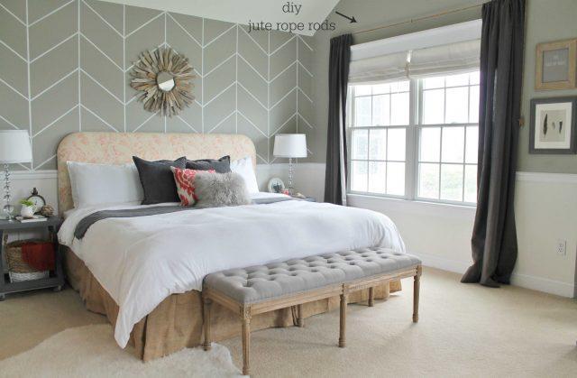 decoration chambre rideau et store